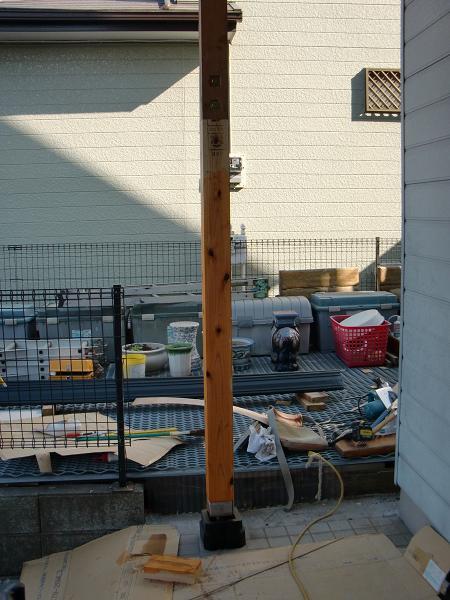 ポーチ柱の修理 ~ 補修工事が終了です。_d0165368_7353670.jpg