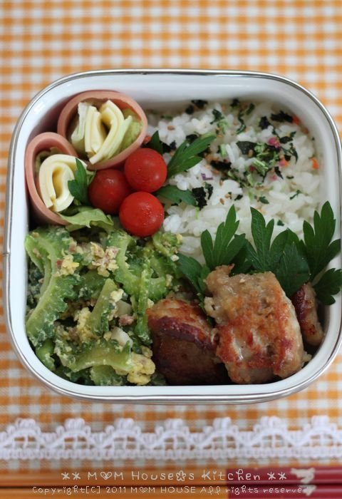 今日の弁当とデトックス山菜ペペロン ☆ 沖縄の標準語♪_c0139375_15473673.jpg