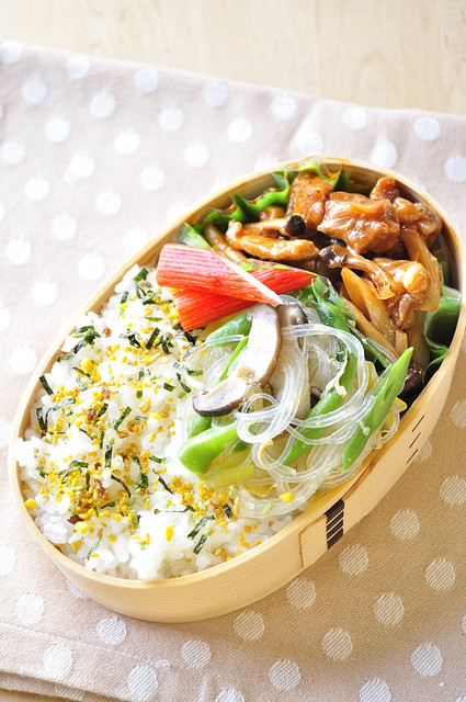 豚肉ケチャップ炒めのお弁当_b0171098_742021.jpg