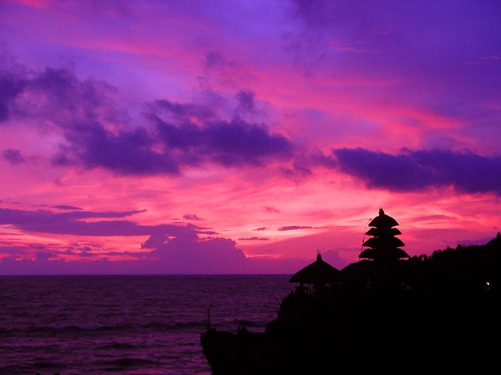 ピンクの夕焼け。