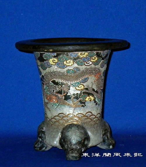 東洋蘭「京楽焼鉢」                 No.999_d0103457_0521425.jpg