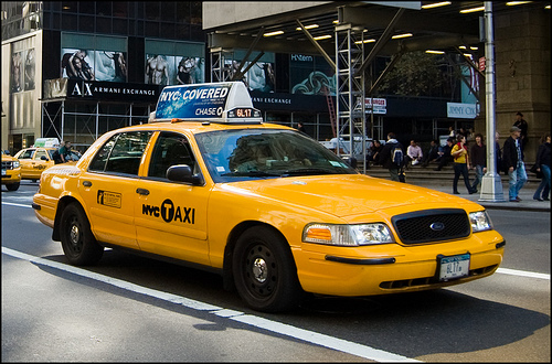 Ny girls - Rideau new york taxi jaune ...