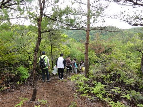 岬高校1年生「山海人プロジェクト」サポート in 孝子の森_c0108460_1811015.jpg