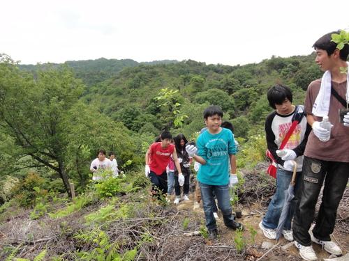 岬高校1年生「山海人プロジェクト」サポート in 孝子の森_c0108460_18204277.jpg