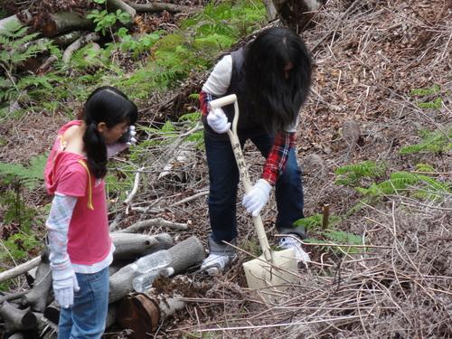 岬高校1年生「山海人プロジェクト」サポート in 孝子の森_c0108460_18245168.jpg