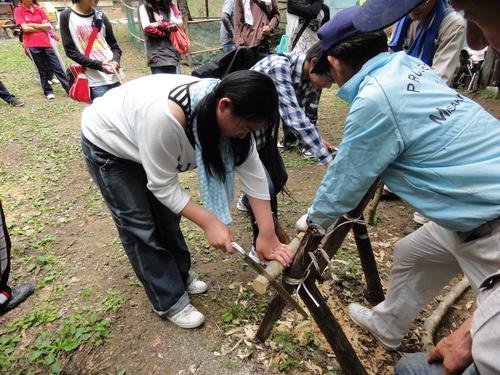 岬高校1年生「山海人プロジェクト」サポート in 孝子の森_c0108460_18291243.jpg