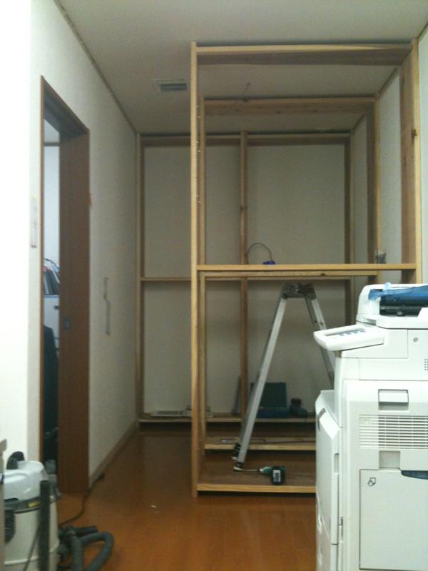 事務所の本棚設置_e0150190_019014.jpg