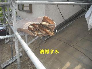 震災被害による屋根工事4日目_f0031037_2035374.jpg
