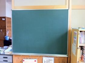 黒板クリーニング_c0215194_19435144.jpg