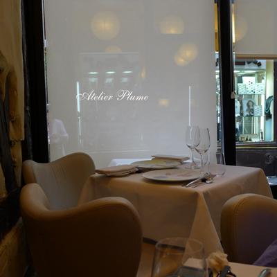 パリの2つ星レストランでスガハラガラスのシュー_e0154202_12164665.jpg