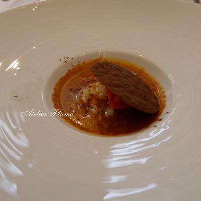 パリの2つ星レストランでスガハラガラスのシュー_e0154202_12211451.jpg