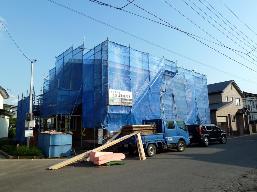 K様邸「船場町の家」 施工中です。_f0150893_1546385.jpg