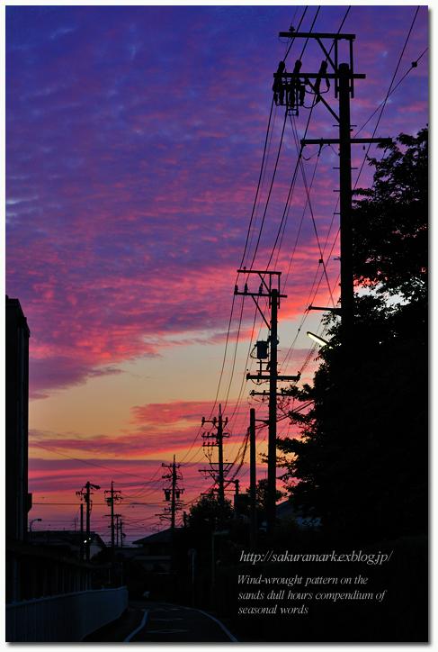 夕焼け通り探検隊 №05 梅雨空晩照。_f0235723_1522714.jpg