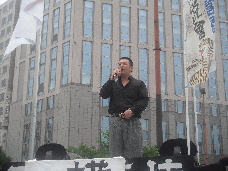六月十二日 義信塾主催「横濱演説會」參加 於横濱驛西口ロータリー   _a0165993_4423953.jpg