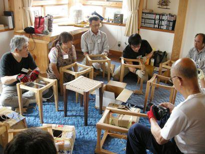 スツール座編み講座in那須 開催しました。_f0227395_16565315.jpg