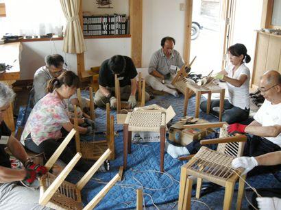 スツール座編み講座in那須 開催しました。_f0227395_179374.jpg