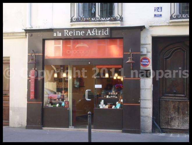 【街角のチョコレート】 A LA REINE ASTRID PARIS(パリ)_a0014299_18541038.jpg
