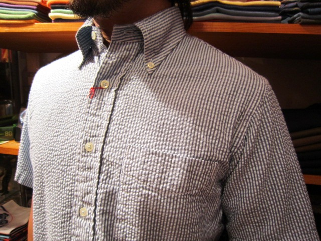 "雨の日の。。。 & ""SERO SEER SUCKER B/D SHIRTS\"" 入荷!_f0191324_9345122.jpg"