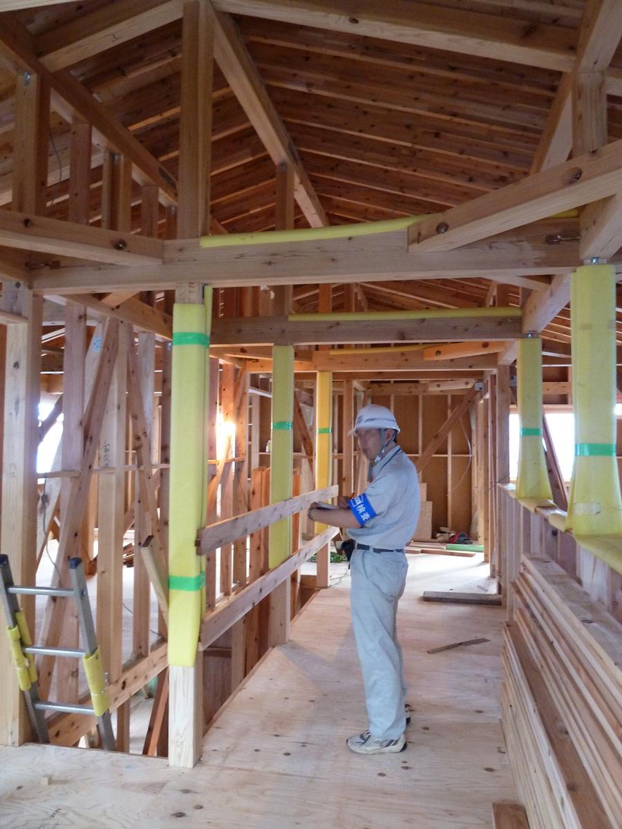 K様邸「船場町の家」 施工中です。_f0150893_17185812.jpg
