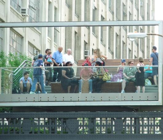 ニューヨークの空中公園ハイライン、第二区間にも展望台 26th Street Viewing Spur_b0007805_20334545.jpg