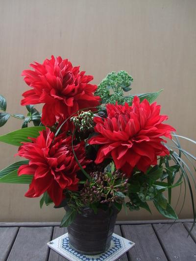 オークリーフ(一花とグリーンミックスアレンジメントpart2)_f0049672_9291237.jpg