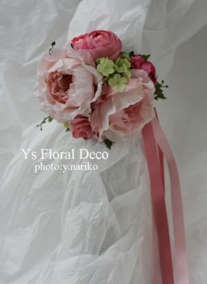 淡いピンク色のドレスに ピンク色のフラワーアクセサリー_b0113510_00914.jpg