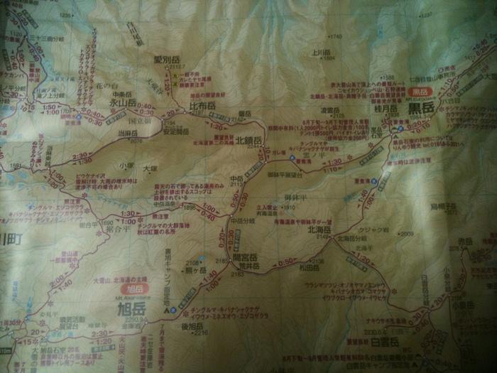 大雪山へ 旭岳ー黒岳 大雪銀座縦走(計画編)_b0219778_912165.jpg