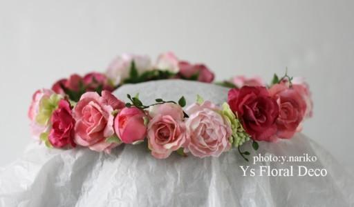 淡いピンク色のドレスに ピンク色のフラワーアクセサリー_b0113510_002933.jpg