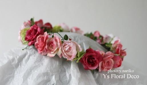 淡いピンク色のドレスに ピンク色のフラワーアクセサリー_b0113510_00395.jpg
