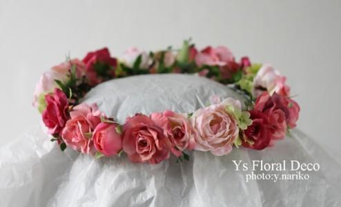 淡いピンク色のドレスに ピンク色のフラワーアクセサリー_b0113510_004744.jpg