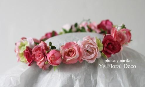 淡いピンク色のドレスに ピンク色のフラワーアクセサリー_b0113510_005736.jpg