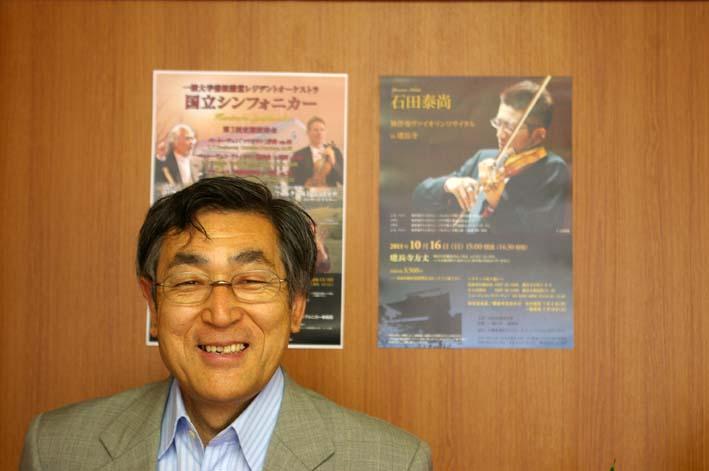石田泰尚リサイタルのポスター、チラシを一橋大学へ_c0014967_21584845.jpg