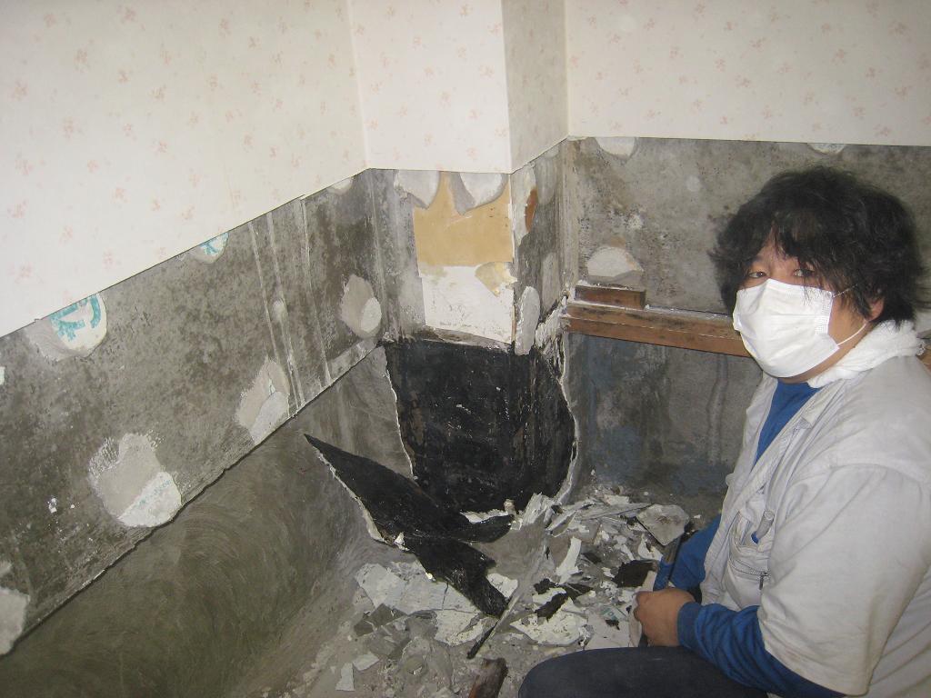 地下室の水漏れ_f0205367_18421771.jpg