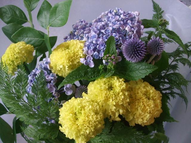 オークリーフ(父の日に贈る花束)_f0049672_16343696.jpg