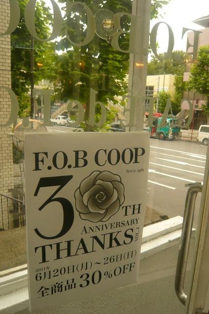 FOB COOP 祝30周年 !!! ・゜ 。*・。† ☆. _f0164187_734159.jpg
