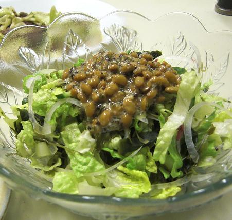 納豆サラダ。_c0119140_124951.jpg