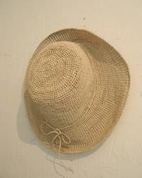 ラフィア帽子、アフリカのバスケット入荷いたしました。_e0199564_1738911.jpg