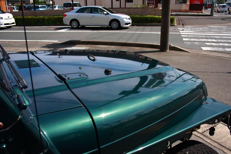 グリーンのTJ 外装磨き_f0105425_17593687.jpg