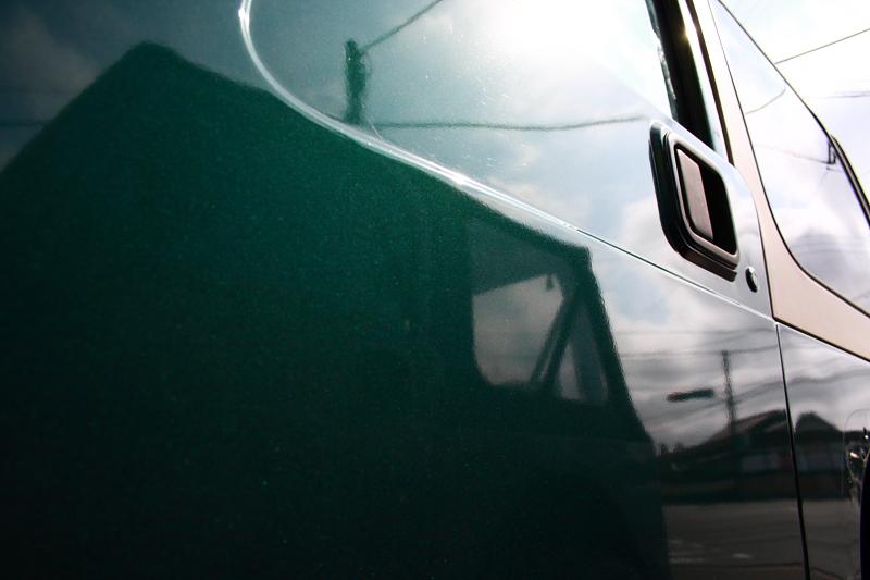 グリーンのTJ 外装磨き_f0105425_1804390.jpg