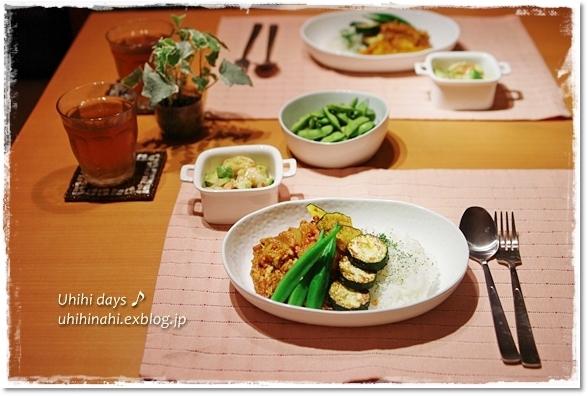 簡単ポークカレー 夏野菜添え_f0179404_6252138.jpg