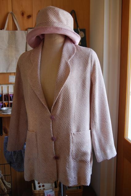 着物リメイク・絞りジャケット&帽子_d0127925_13552117.jpg