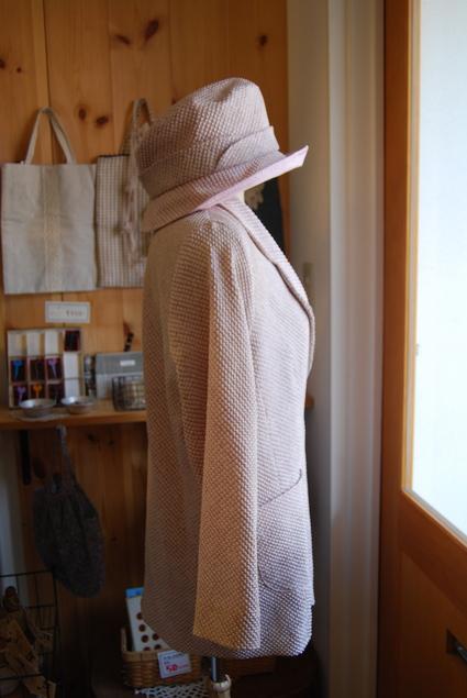 着物リメイク・絞りジャケット&帽子_d0127925_135528.jpg