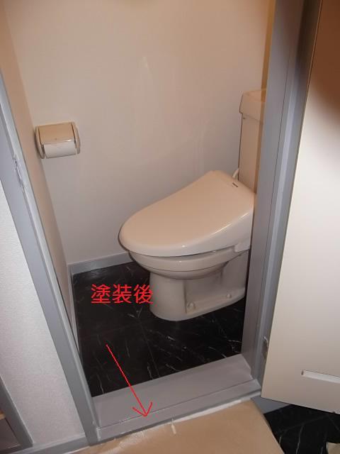 塗装仕上げ確認と1階トイレ塗装_c0186441_20101672.jpg
