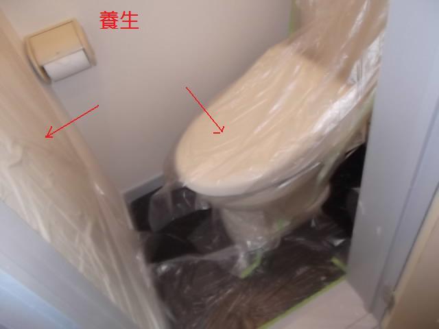 塗装仕上げ確認と1階トイレ塗装_c0186441_2014764.jpg