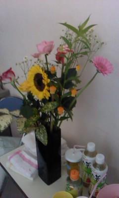 花を買ってアイス食べて病院へ_b0217741_23574310.jpg