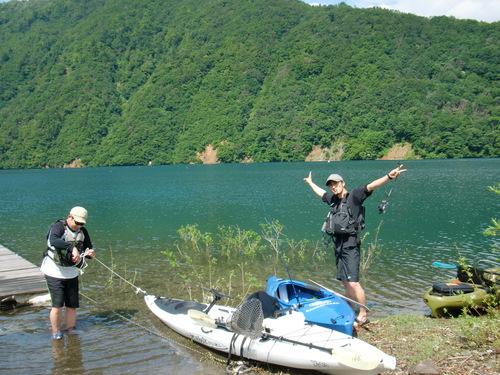 桂湖 今年初です! カヤックでGO!_b0151262_23282551.jpg