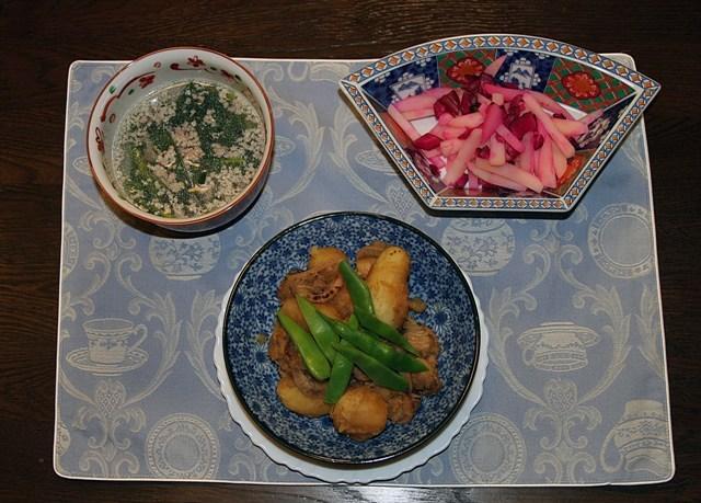 ★ ジャガイモ帆立の煮物(260kcal)_f0229190_1584780.jpg