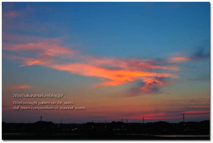夕空に浮かぶ巻積雲。_f0235723_18225857.jpg