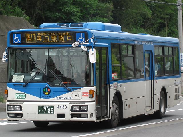 川崎市バス W-4483 : 旧路線バス...