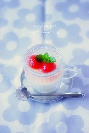 レアチーズケーキ トマトのコンポートのせ :9 。_e0173666_22501036.jpg